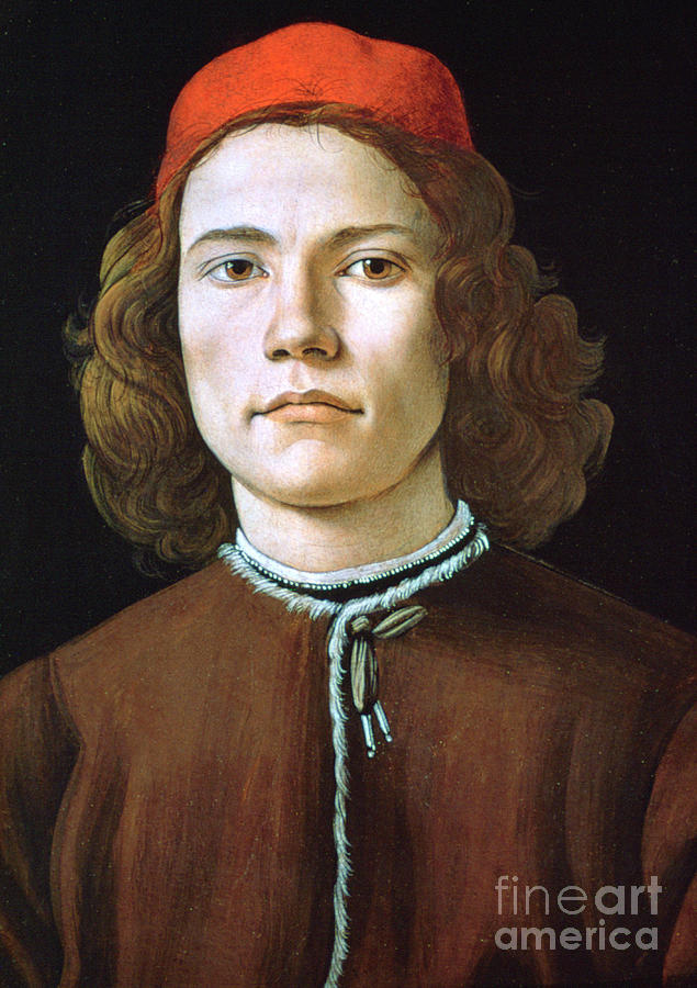Portrait Of A Young Man, C1480-1485 Drawing by Print Collector