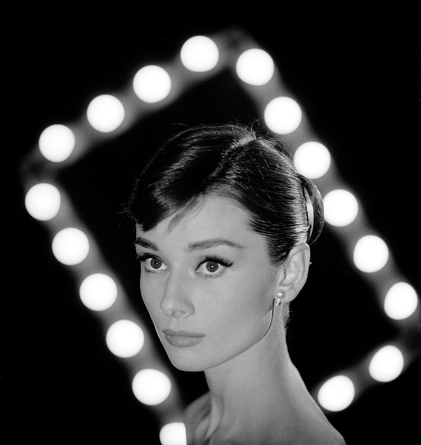 Portrait Of Actress Audrey Hepburn Photograph by Allan Grant