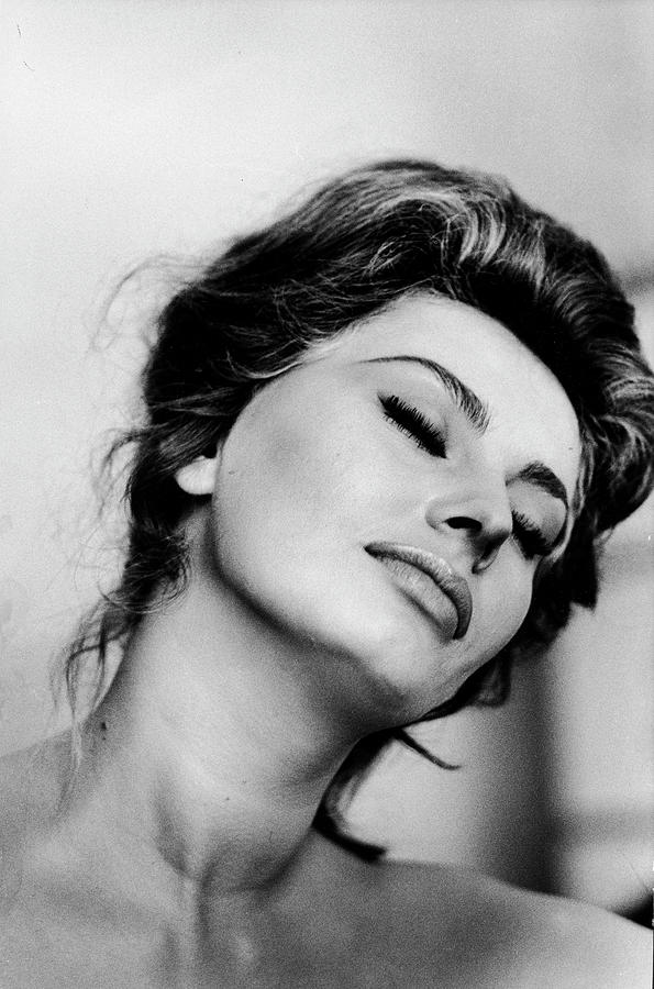 Portrait Of Actress Sophia Loren With Photograph by Alfred Eisenstaedt