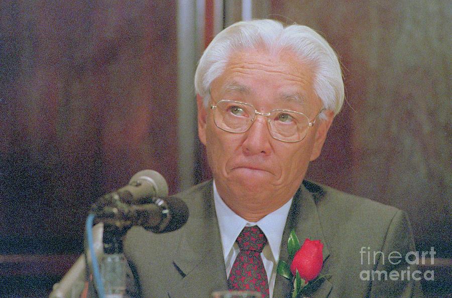 Portrait Of Akio Morita Photograph by Bettmann