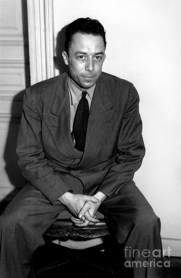 Albert Camus Photograph - Portrait Of Albert Camus by French School