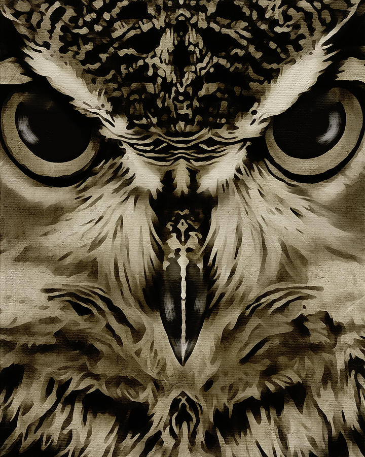 Portrait of an Owl by Jan Keteleer