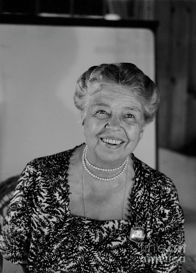 Portrait Of Anna Eleanor Roosevelt Photograph by Bettmann
