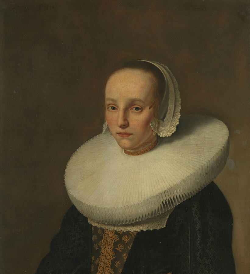 Portrait of Anna van der Does by Paulus Hennekyn