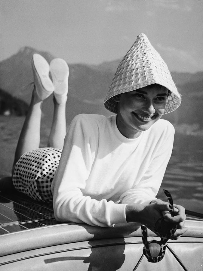 Belgium Photograph - Portrait Of Audrey Hepburn by Pictorial Parade