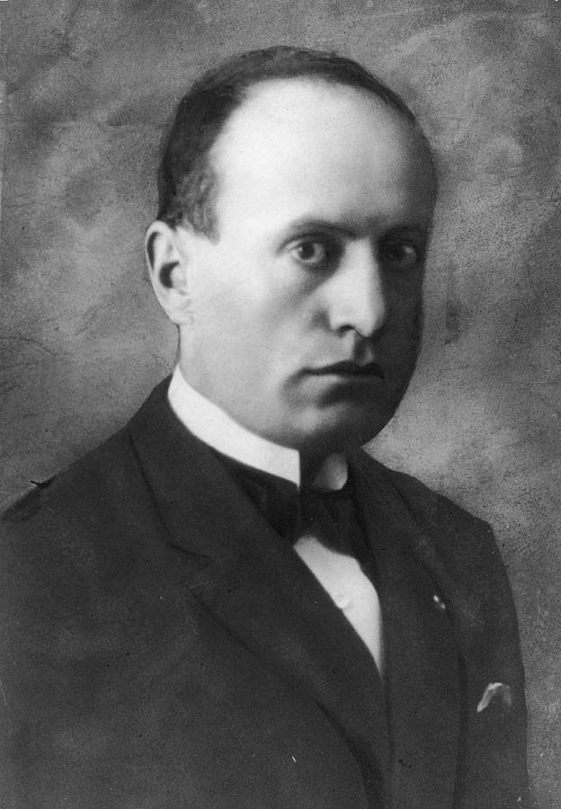 Portrait Of Benito Mussolini Photograph by Hulton Archive