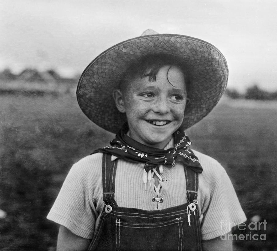Portrait Of Boy 8-9 Smiling Photograph by Bettmann