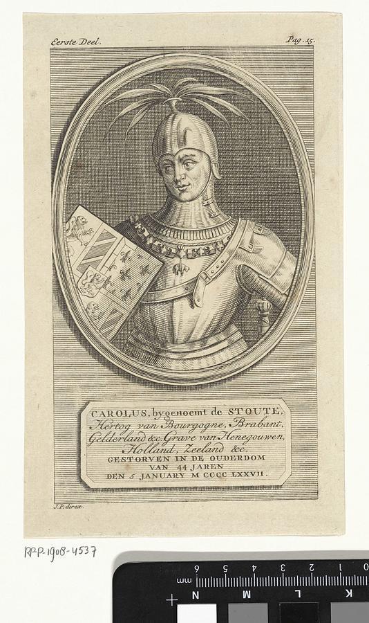 Emperor Painting - Portrait Of Charles The Bold, Duke Of Burgundy, Jan Punt, 1748 by Jan Punt