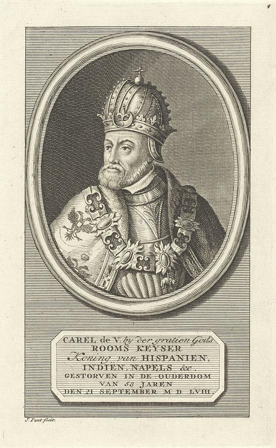 Emperor Painting - Portrait Of Charles V Of Habsburg, German Emperor, King Of Spain, Jan Punt, 1786 B by Jan Punt