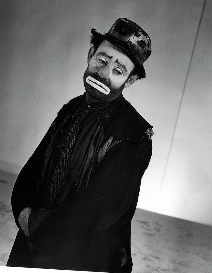 Portrait Of Circus Clown Emmett Kelly Photograph by Gjon Mili