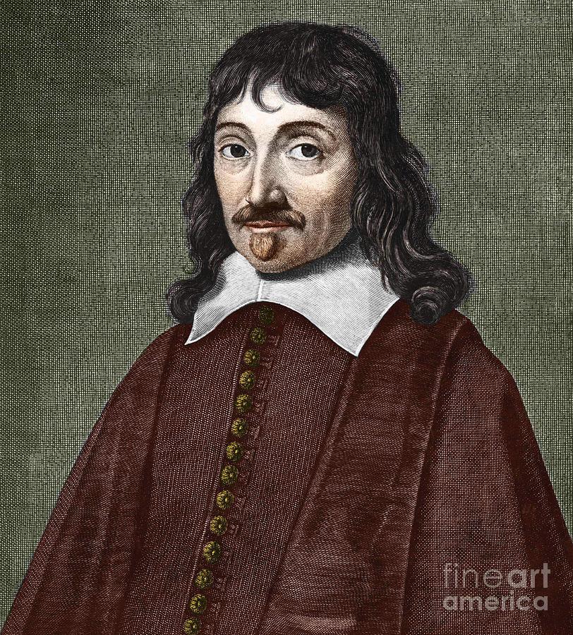 Descartes Painting - Portrait Of Descartes by French School