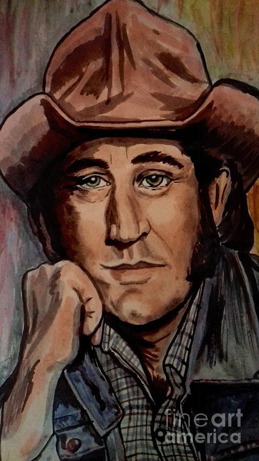 Portrait of Don Williams Detail by Joan-Violet Stretch