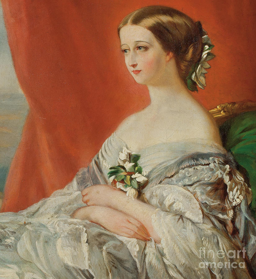 Empresses Painting - Portrait Of Empress Eugenie By  by Franz Xaver Winterhalter
