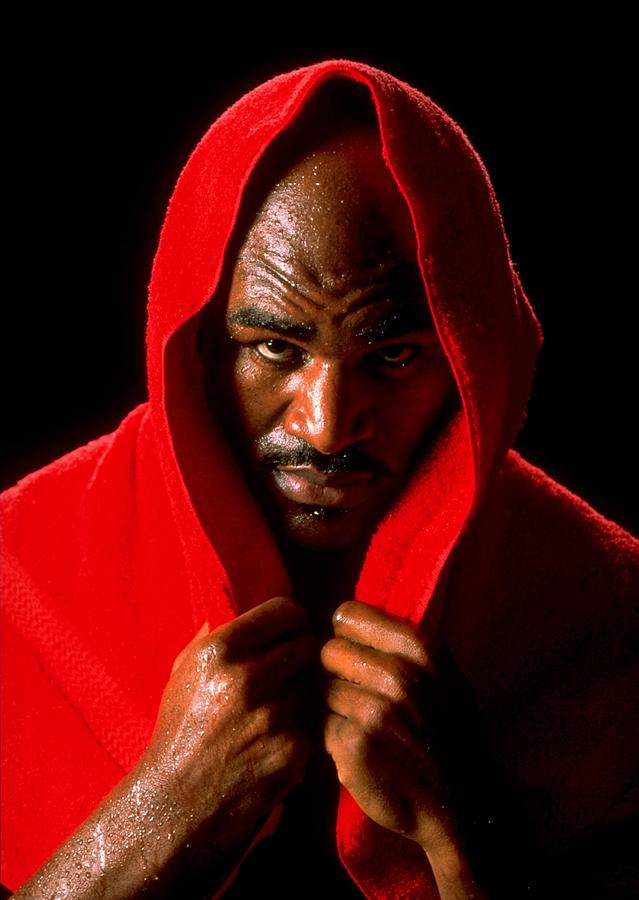Portrait Of Evander Holyfield Photograph by Al Bello