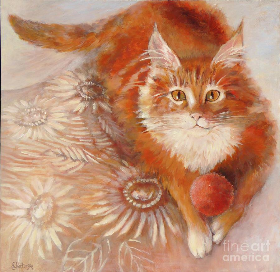 Cat Painting - Portrait Of Fandorin by Ekaterina Mortensen