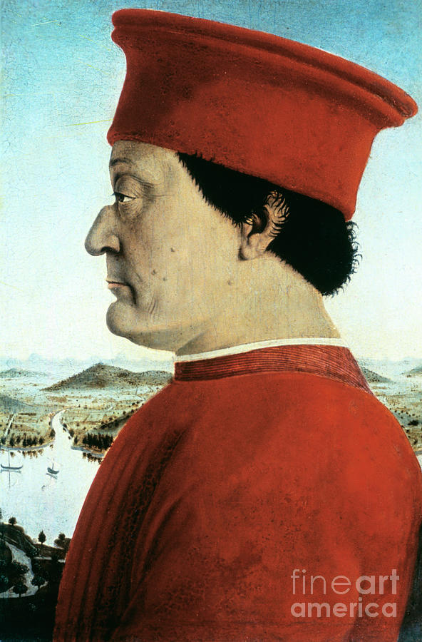 Portrait Of Federico Da Montefeltro Drawing by Print Collector