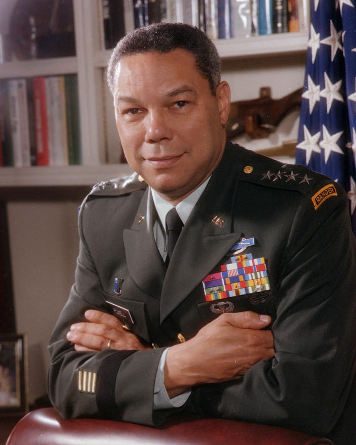 Portrait Of General Colin Powell Photograph by Bachrach