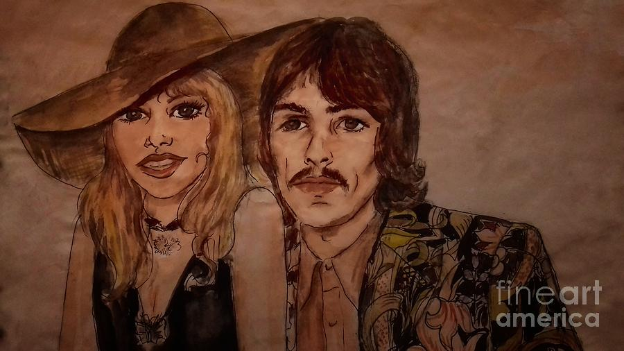 Portrait of George and Patti by Joan-Violet Stretch