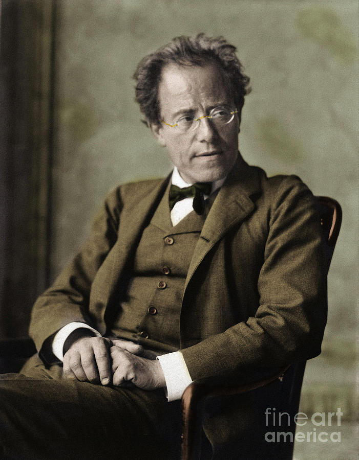 Mahler Photograph - Portrait Of Gustav Mahler, Austrian Composer And Conductor by Anonymous