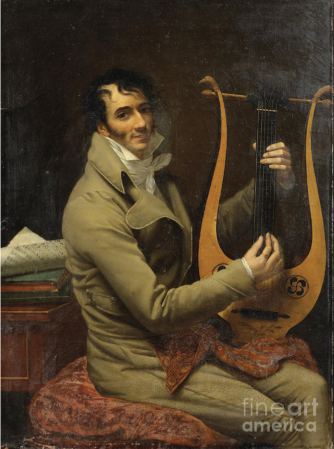 Portrait Of Jean-dominique Fabry Garat Drawing by Heritage Images