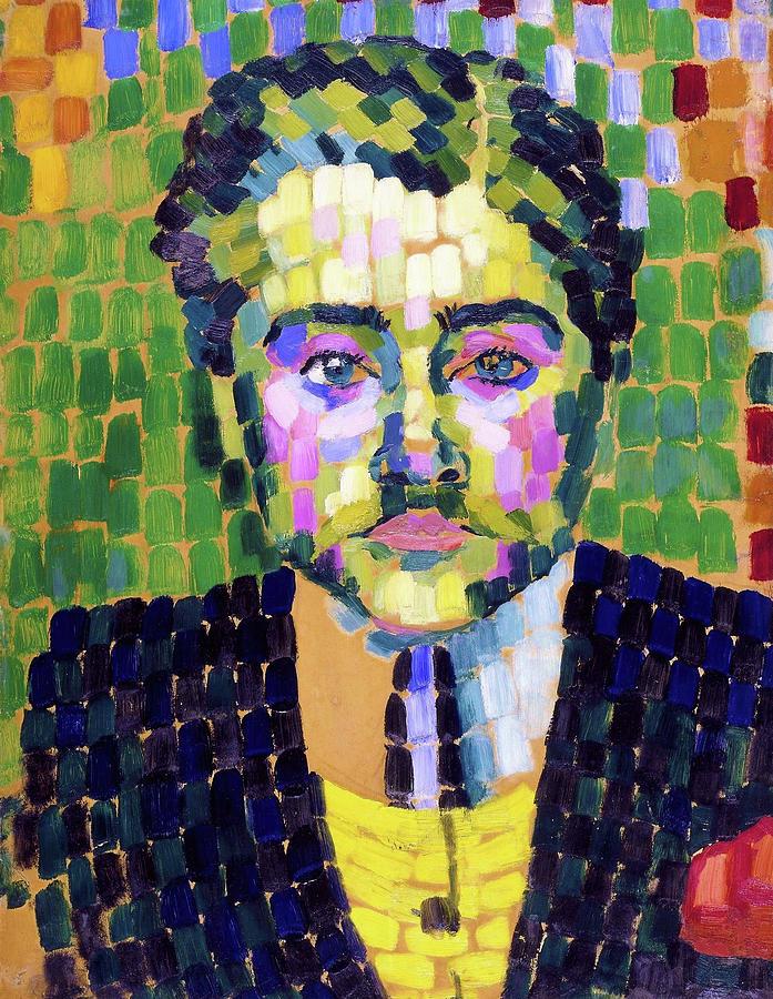 Portrait of Jean Metzinger - Digital Remastered Edition by Robert Delaunay