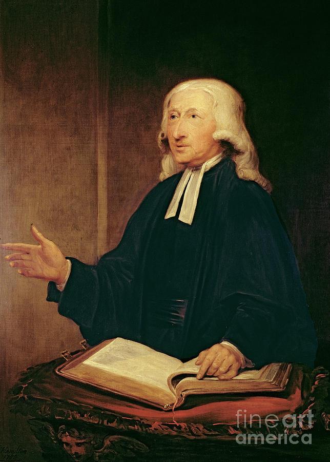 John Wesley Painting - Portrait Of John Wesley by William Hamilton