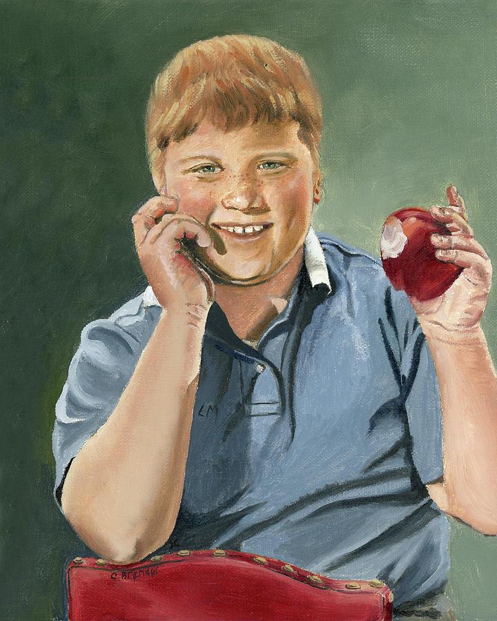 Portrait of Larry Mondello by Cecilia Brendel