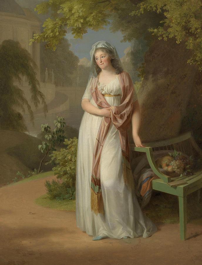 Portrait of Luise von Anhalt-Dessau  by Johann Heinrich Tischbein