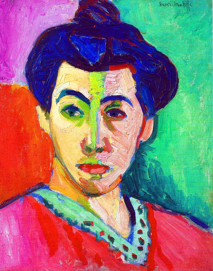 Portrait of Madame Matisse Painting by Henri Matisse