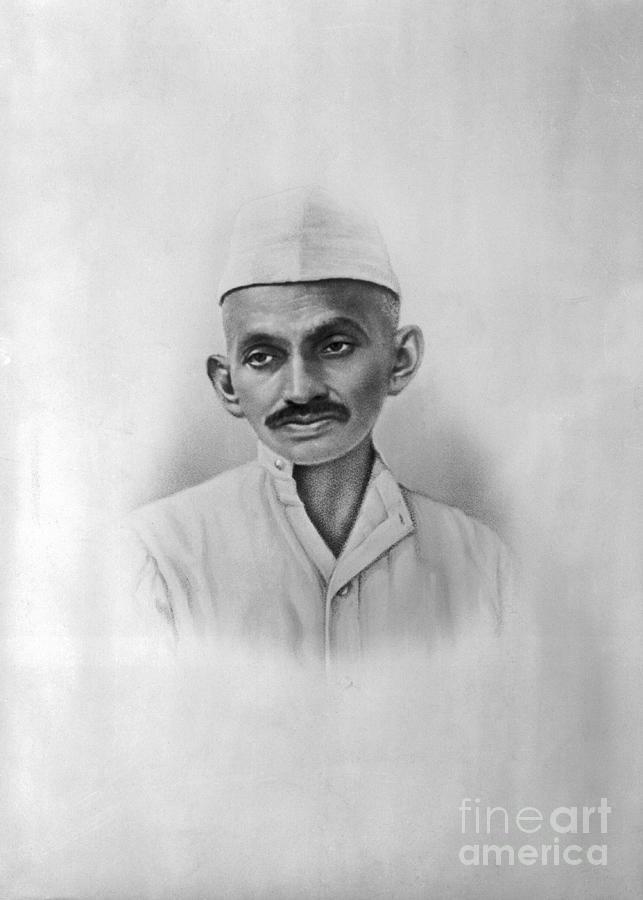 Portrait Of Mahatma Gandhi Photograph by Bettmann