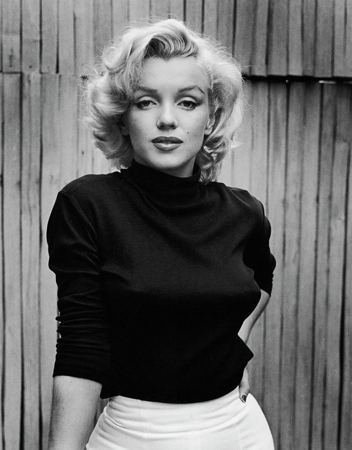 Sweater Photograph - Portrait Of Marilyn Monroe by Alfred Eisenstaedt