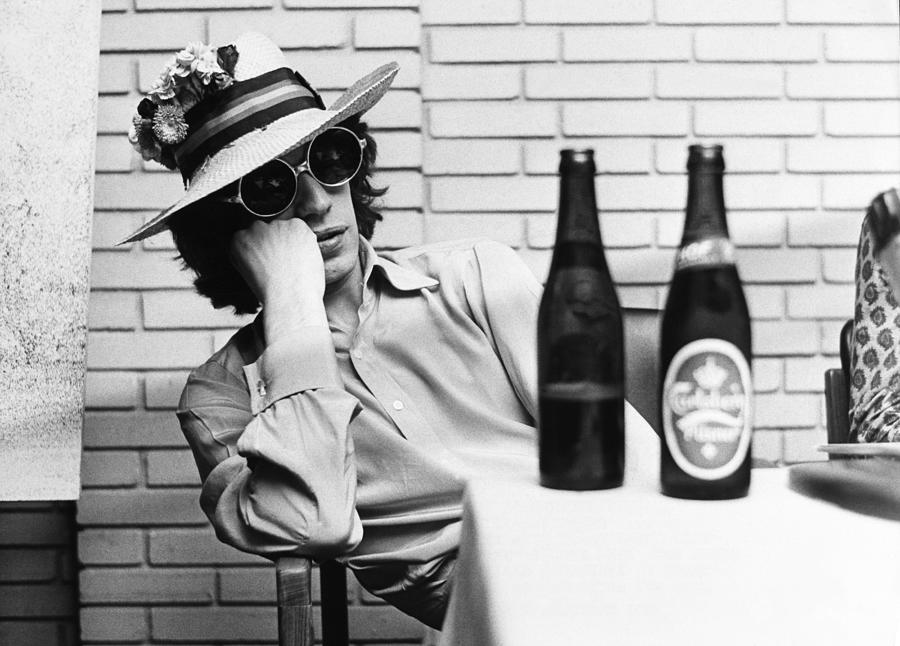 Portrait Of Mick Jagger With A Sun Hat Photograph by Keystone-france