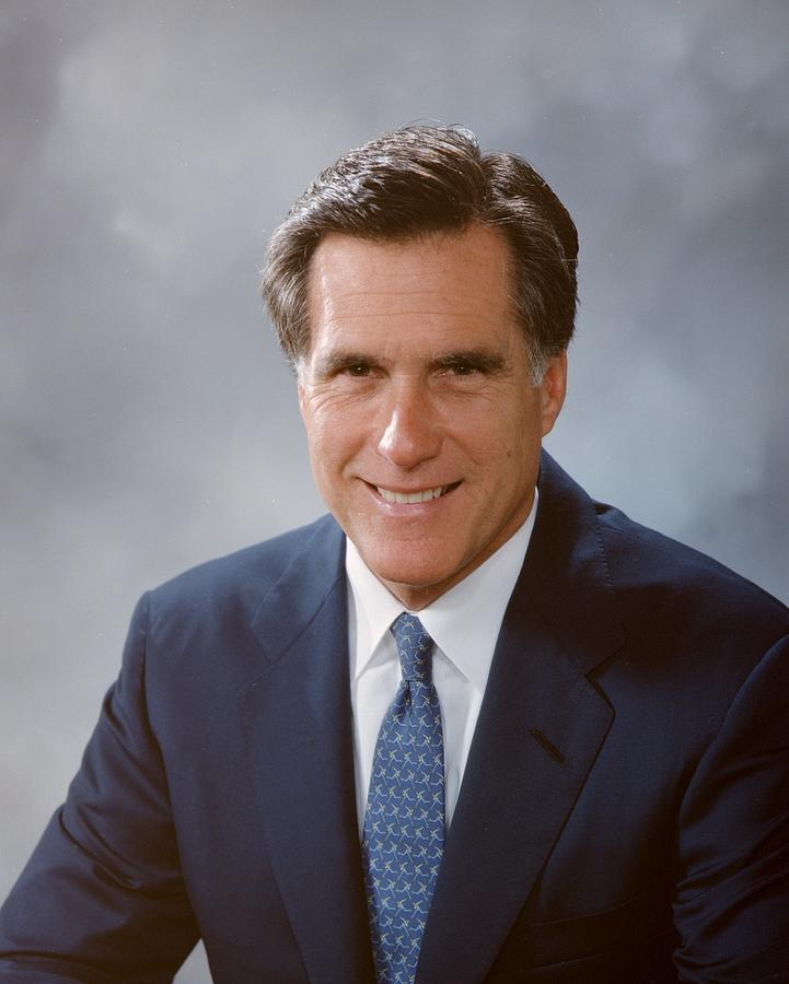 Portrait Of Mitt Romney Photograph by Bachrach