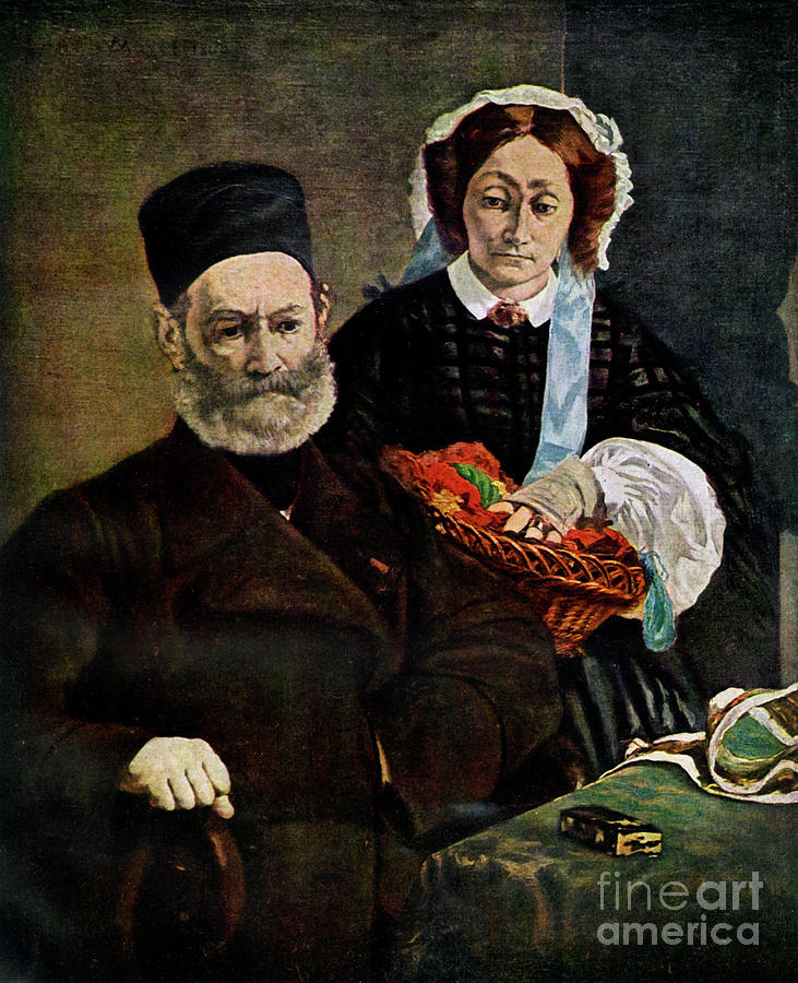 Portrait Of Monsieur And Madame Auguste Drawing by Print Collector