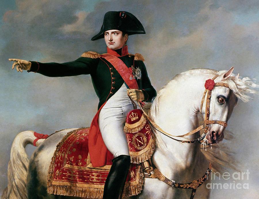Napoleon Painting - Portrait Of Napoleon Bonaparte Or Napoleon I During A Battle by Joseph Chabord