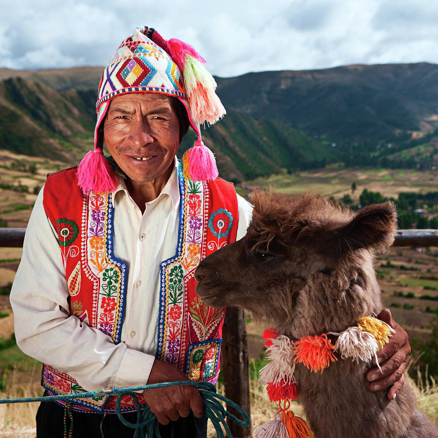 Portrait Of Peruvian Man Near Pisac Photograph by Hadynyah