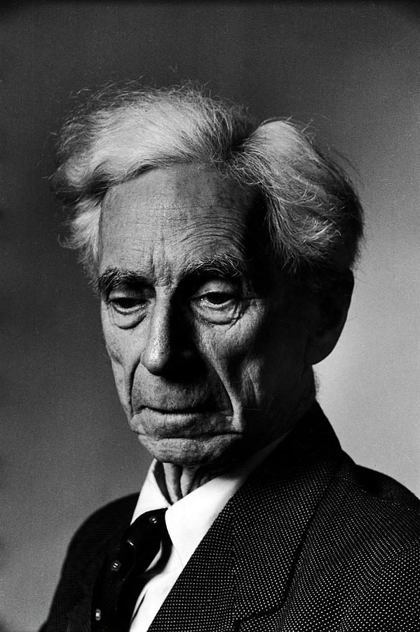 Portrait Of Philosopher Bertrand Russell Photograph by Alfred Eisenstaedt