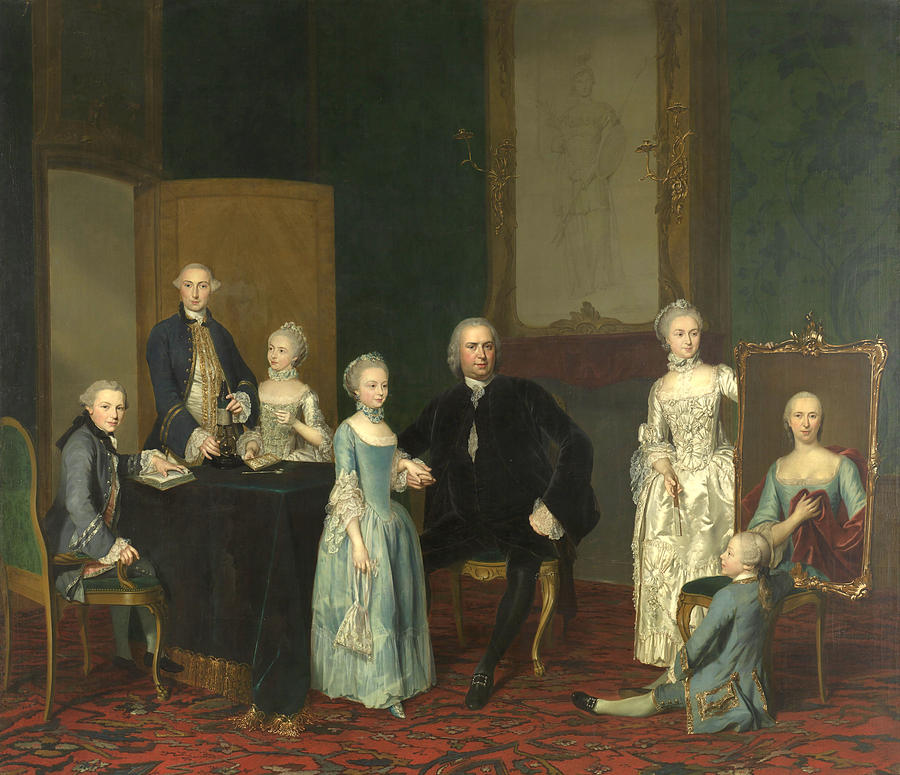 Portrait of Pieter Cornelis Hasselaer and his Children by George van der Mijn