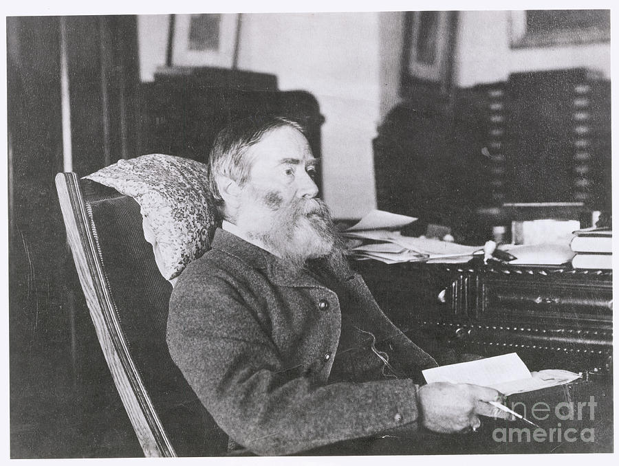 Portrait Of Poet James Russell Lowell Photograph by Bettmann