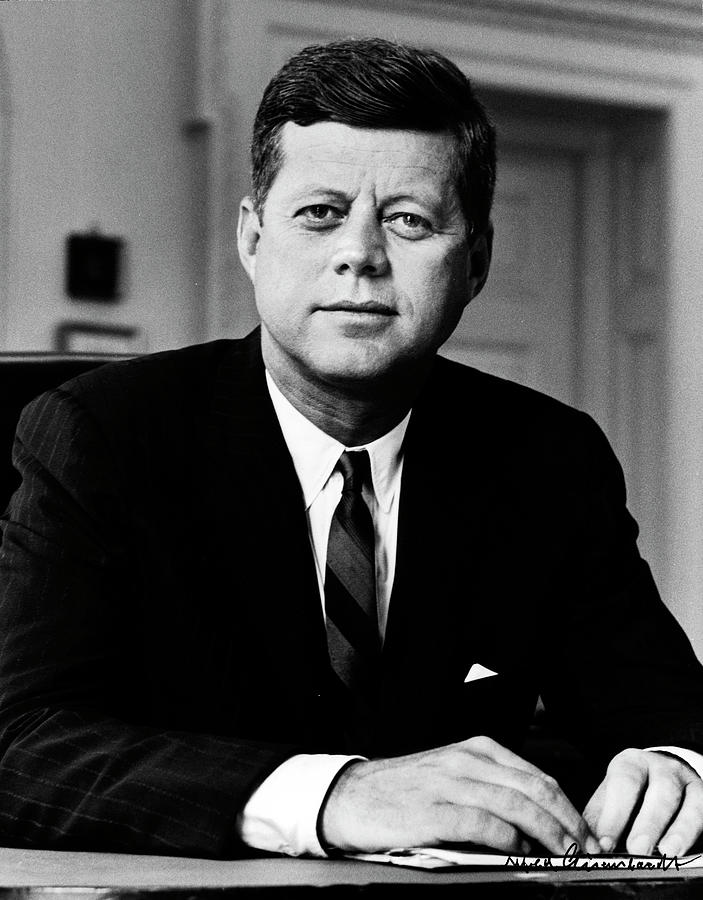 Portrait Of President John F Kennedy Photograph by Alfred Eisenstaedt