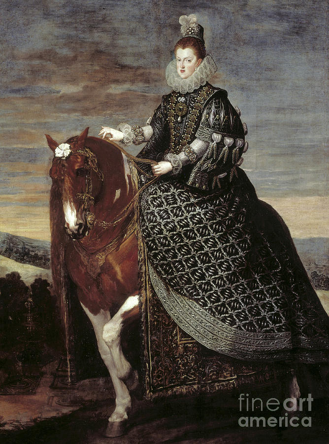 Velazquez Painting - Portrait Of Queen Margaret Of Austria Queen Of Spain by Diego Rodriguez de Silva y Velazquez