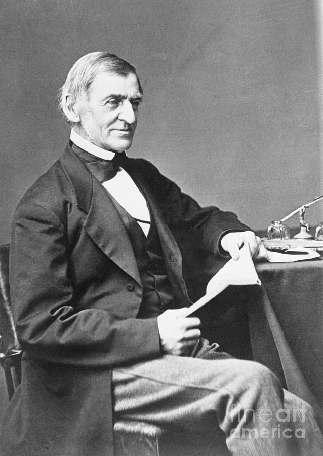 Portrait Of Ralph Waldo Emerson Photograph by Bettmann