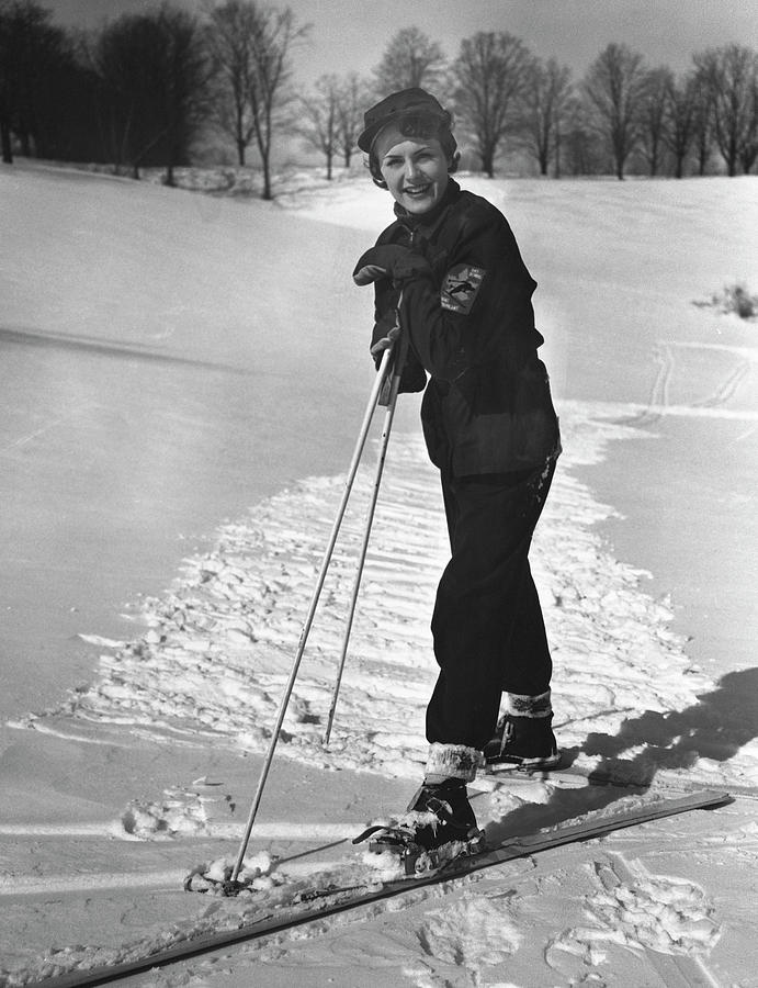 Portrait Of Skier Photograph by George Marks