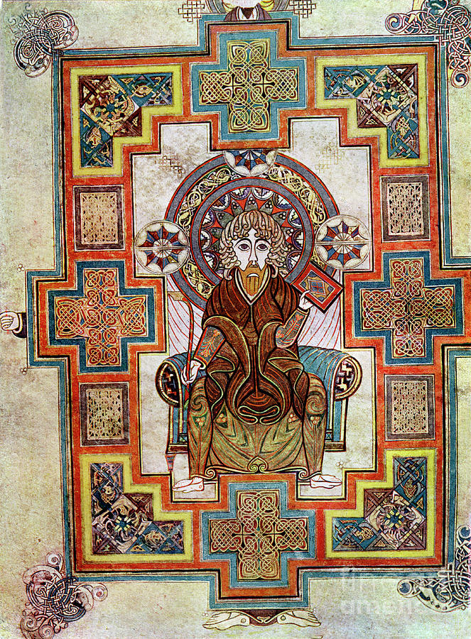 Portrait Of St John, 800 Ad, 20th Drawing by Print Collector