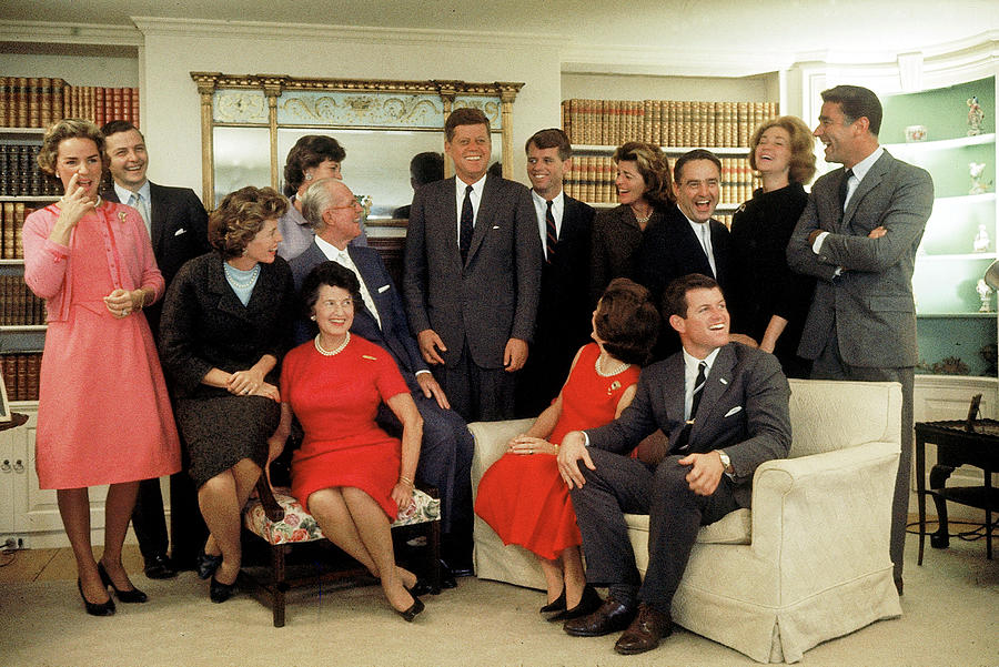 Portrait Of The Kennedy Family At Home Photograph by Paul Schutzer