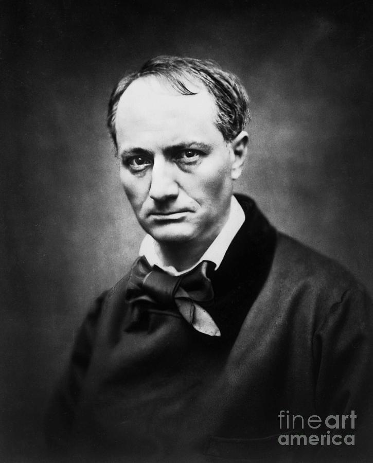 Portrait of the poet Charles Baudelaire by photographer Etienne Carjat by Etienne Carjat