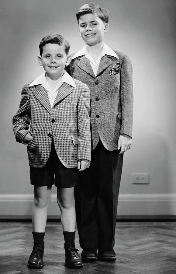 Portrait Of Two Boys Indoor Photograph by George Marks