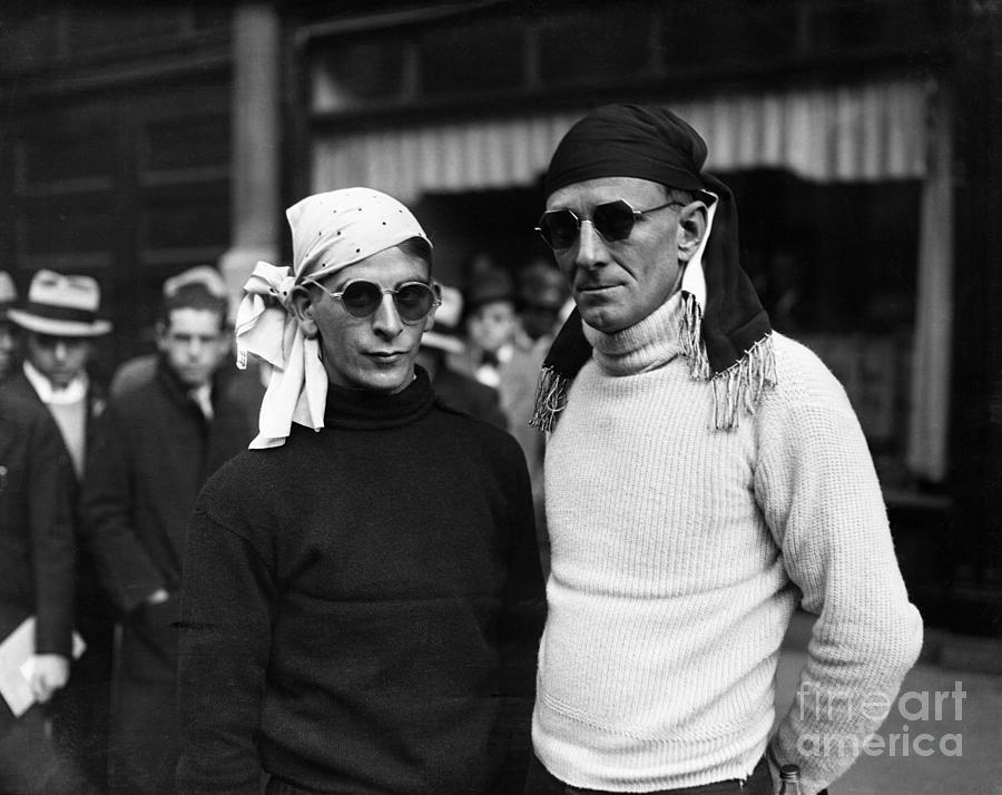 Portrait Of Two Men Wearing Sunglasses Photograph by Bettmann