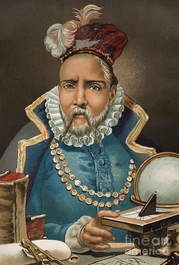 Tycho Painting - Portrait Of Tycho Brahe by European School