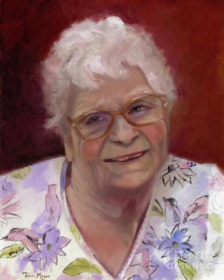 Portrait of Vespa Painting by Terri  Meyer